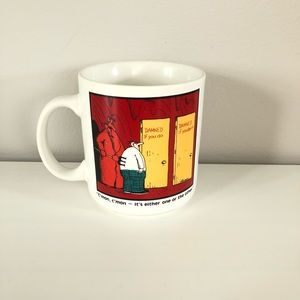 VTG 1985 The Far Side funny comic coffee mug